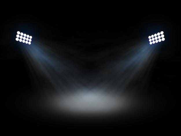 Stadion theater spotlights Premium Foto