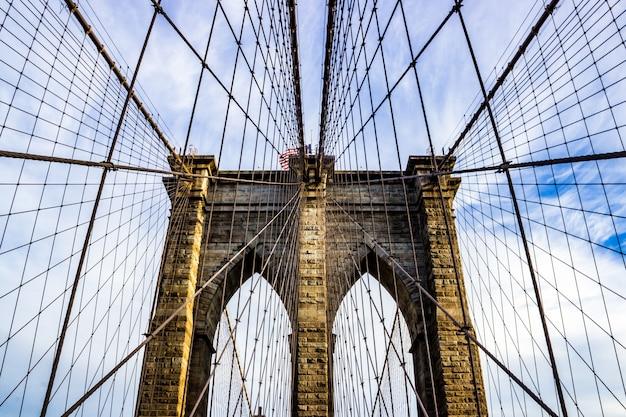 Stads beeld weergave van brooklyn toren beroemde Gratis Foto