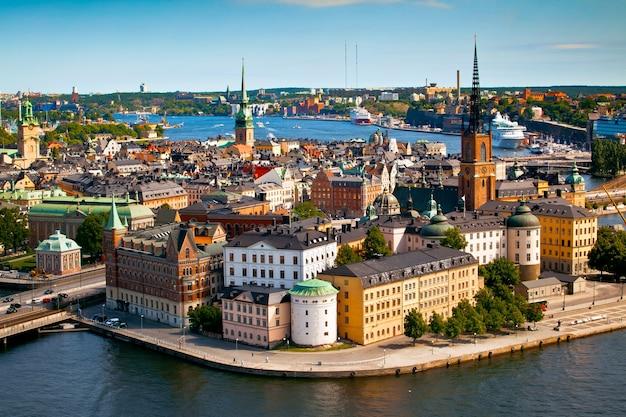 Stadsgezicht van stockholm Premium Foto