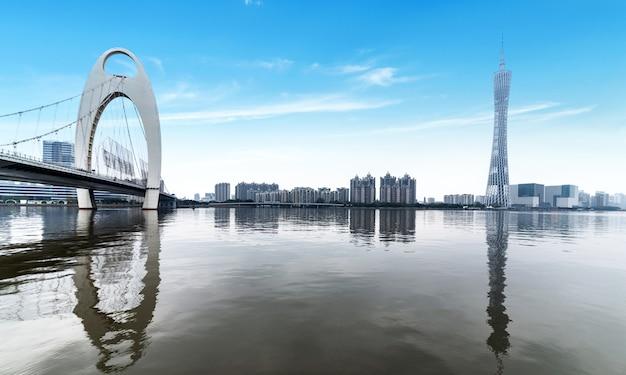 Stadshorizon in guangzhou, china Premium Foto