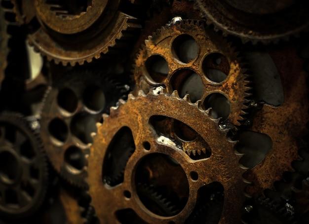 Stalen machine close-up precies wiel Gratis Foto