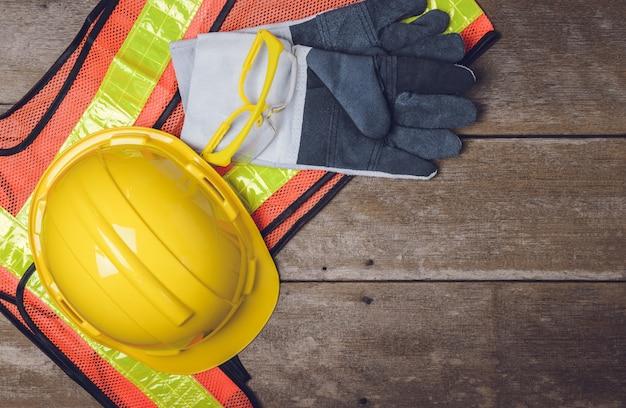 Standaard constructie veiligheidsuitrusting Premium Foto