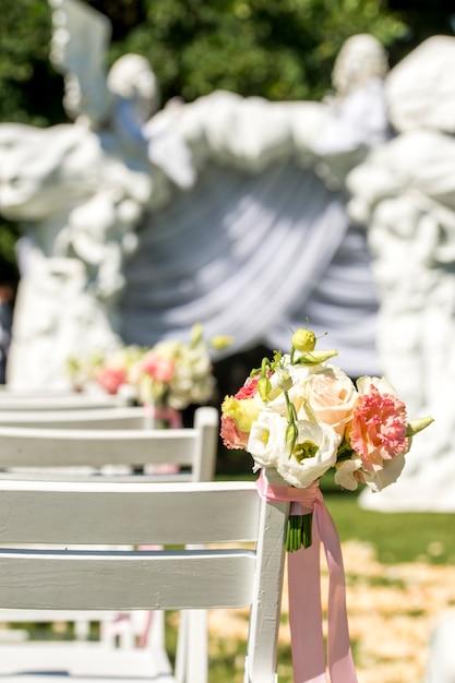 Stap uit bij de huwelijksceremonie Premium Foto