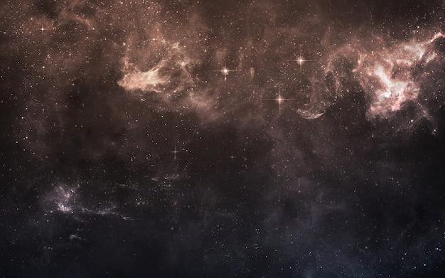 Starfield in de diepe ruimte vele lichtjaren ver van de aarde. elementen van deze afbeelding geleverd door nasa Premium Foto