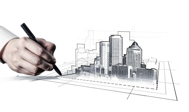 Stedelijke civiele planning en vastgoedontwikkeling. Premium Foto