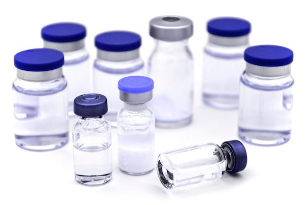 Steriele farmaceutische producten voor injectie. Premium Foto