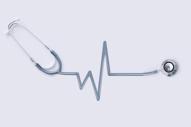Stethoscoop met pulsomtrekbuis Premium Foto