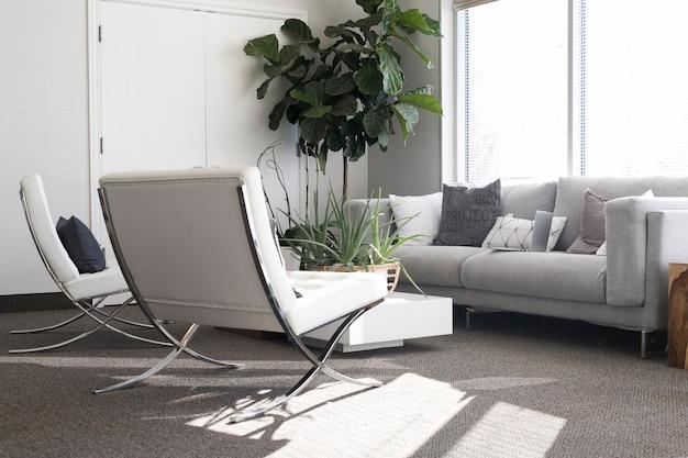 Stijlvolle woonkamer bij daglicht Gratis Foto