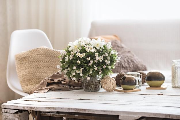 Stilleven interieurdetails in de woonkamer en inrichting Premium Foto