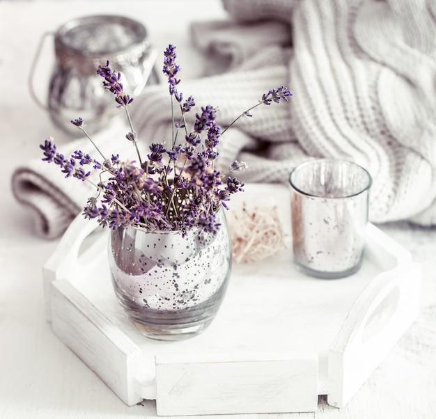 Stilleven met lavendel in een glas Gratis Foto
