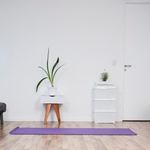 Stilleven van yogaruimte Gratis Foto