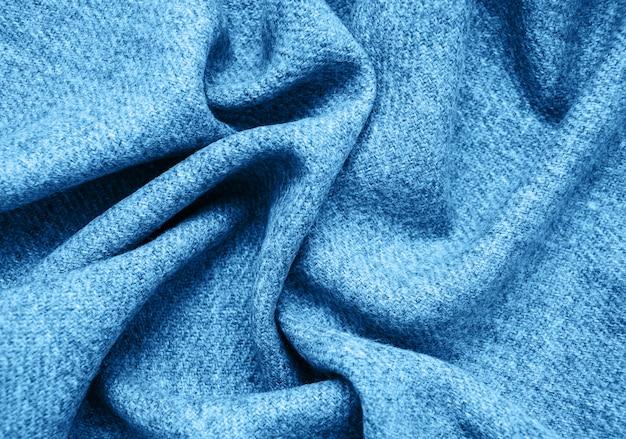 Stoffen oppervlak in klassieke blauwe kleur Premium Foto