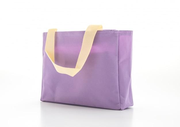 Stoffen tas op wit Premium Foto