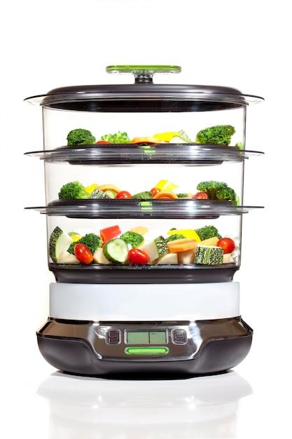 Stoomkoker met groenten Premium Foto