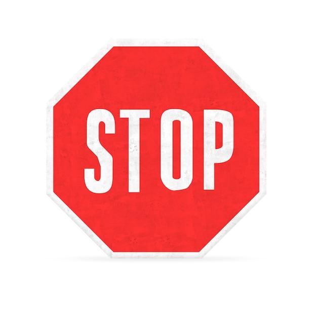 Stop met zeshoek sign Gratis Foto