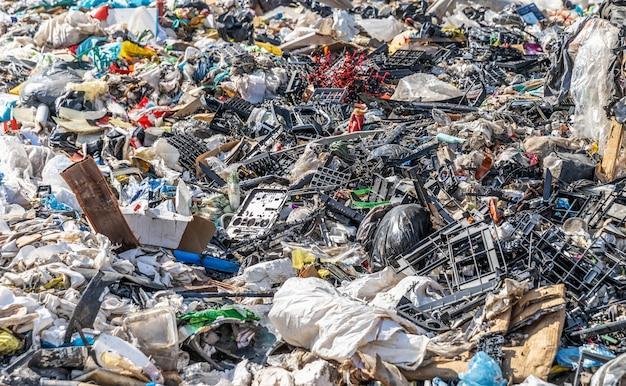 Stortplaats voor stedelijk afval Premium Foto
