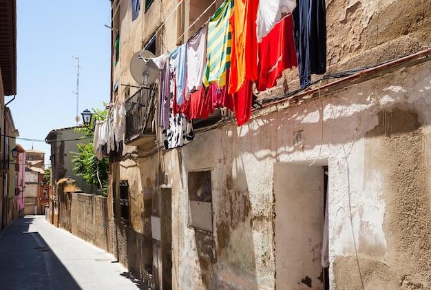 Straat van de oude stad. huesca Gratis Foto