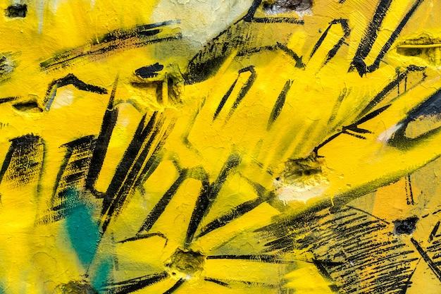 Straatkunst, kleurrijke graffiti op de muur Premium Foto