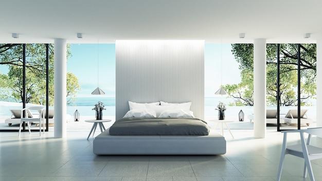 strand slaapkamer interieur premium foto