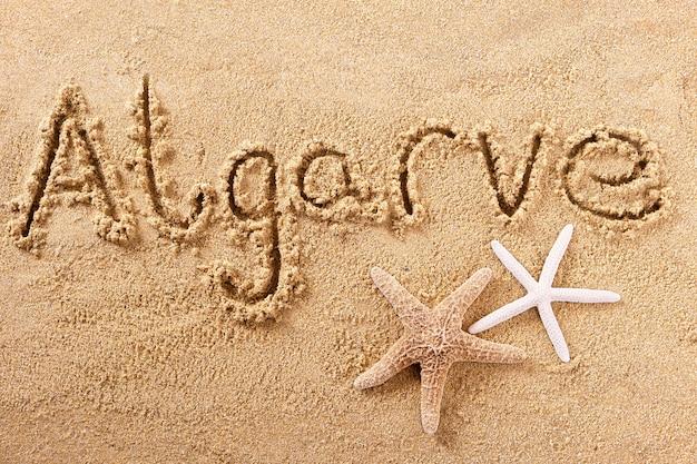 Strand van de algarve algarve strand schrijven bericht Premium Foto