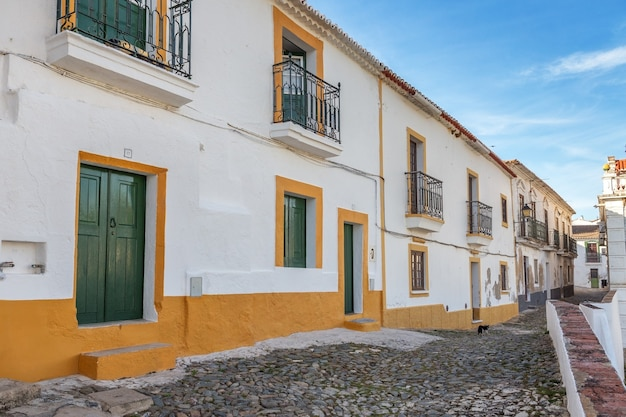 Straten van het oude toeristenstadje mertola. portugal alentejo Premium Foto