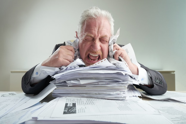 Stress op de werkplek verlichten Gratis Foto