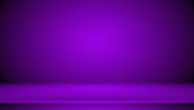 Studio achtergrondconcept - donkere achtergrond van de gradiënt de purpere studio voor product. Premium Foto