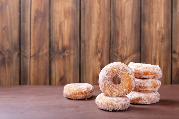 Suiker donuts Premium Foto