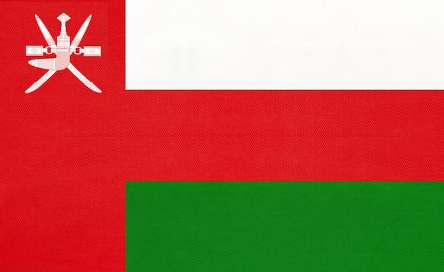 Sultanaat van oman nationale vlag Premium Foto