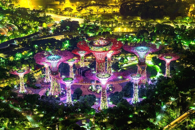 Super boom in garden by the bay, singapore. Gratis Foto
