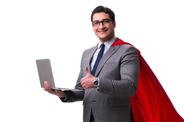 Super held zakenman geïsoleerd Premium Foto