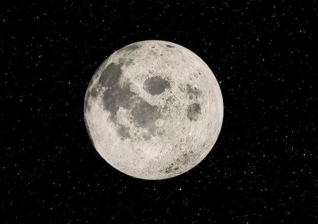 Superzoom van de volle maan Premium Foto