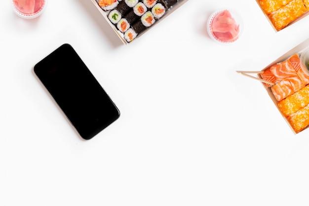 Sushi instellen Premium Foto