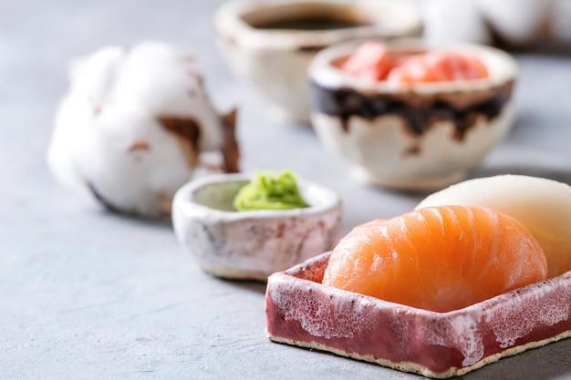 Sushi rollenset Premium Foto