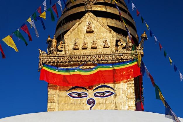 Swayambhunath-tempel Premium Foto