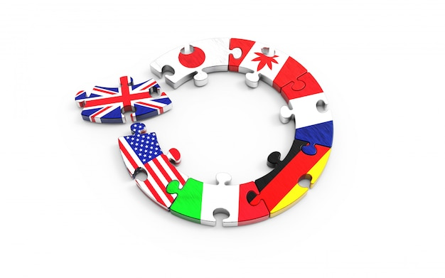 Symbolisch concept over het vk om de europese unie (eu) te verlaten. brexit. Premium Foto
