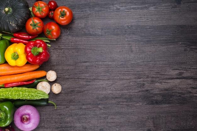 Tafel met groenten Gratis Foto