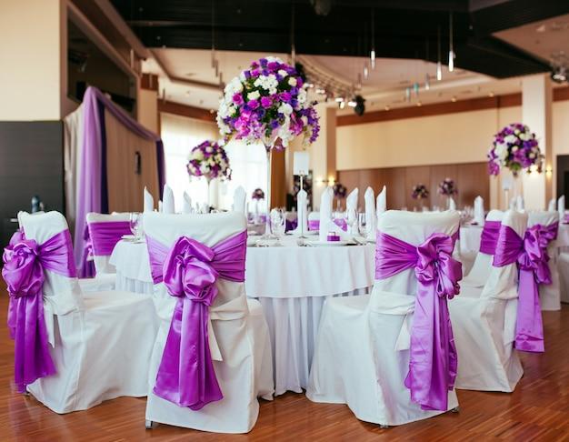 Tafel voor bruiloft Premium Foto