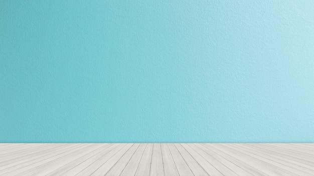 Tafelblad met heldere blauwe bakstenen muurachtergrond Premium Foto