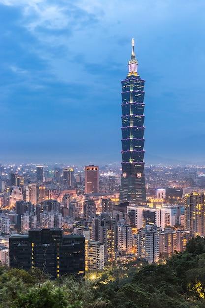 Taipei skyline Premium Foto