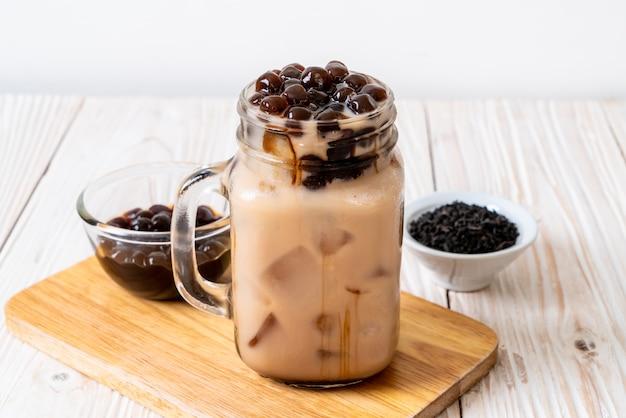 Taiwan melkthee met bubbel Premium Foto