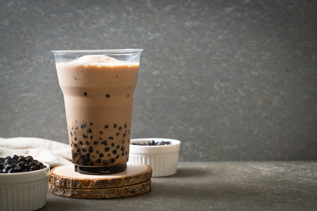 Taiwan melkthee met bubbels Premium Foto