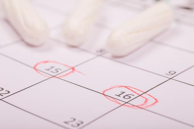 Tampons op kalender Gratis Foto
