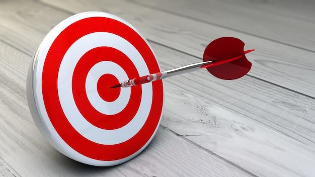 Target dart rood Premium Foto