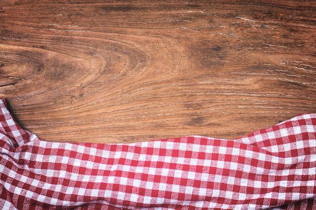 Tartan, houten achtergrond Gratis Foto