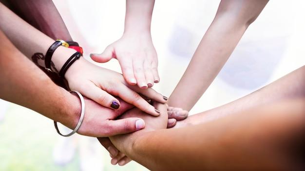 Teamwerk en ondersteuning Gratis Foto