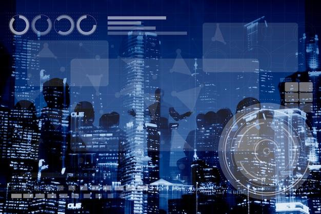 Technologie verbinding online netwerk medias conpt Gratis Foto