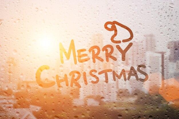 Kerstmuts Met Licht : Teken kerstmuts en woord regent in ochtendlicht foto premium