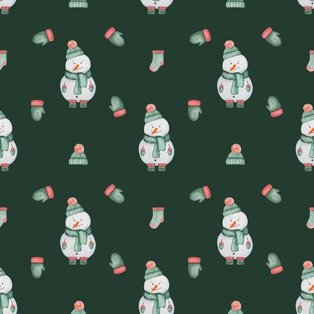 Tekening winterkleren en dingen naadloze patroon. mooie wenskaart. detailopname Premium Foto