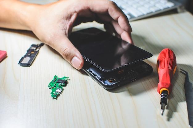Telefoon reparatie Premium Foto
